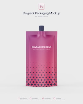 Doypack-verpackung mit top spout mockup