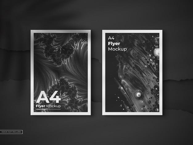 Draufsicht a4 plakat flyer modell