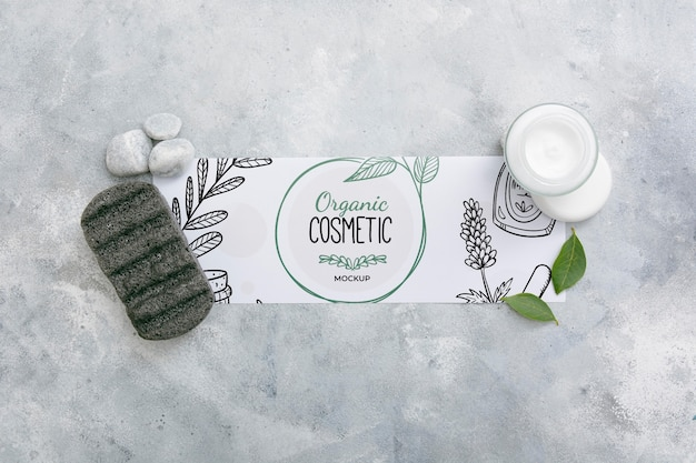 Draufsicht auf beauty spa essentials