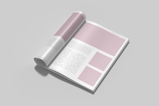Draufsicht auf cover-magazin-modell