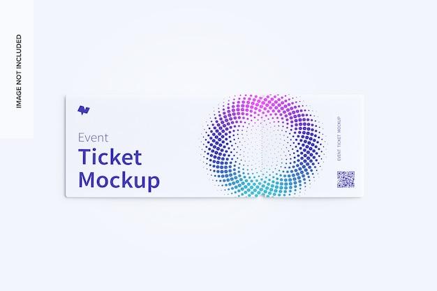 Draufsicht auf das event-ticketmodell