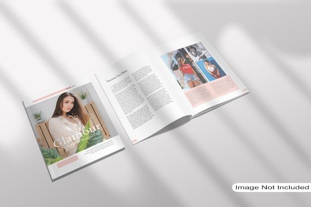 Draufsicht auf das magazinmodell