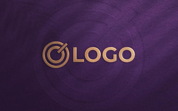 Draufsicht auf elegantes logo-modell