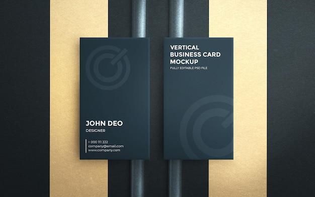 Draufsicht auf elegantes vertikales visitenkartenmodell