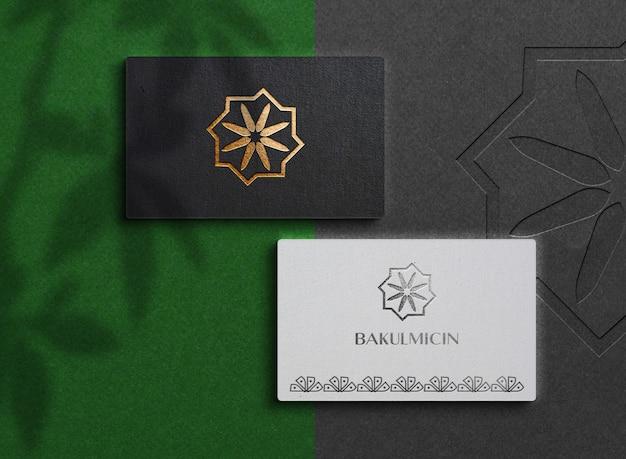 Draufsicht auf luxus-visitenkarten