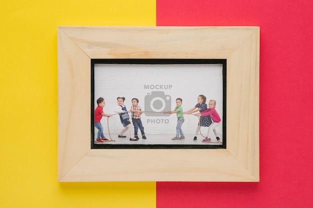 Draufsicht auf minimalen bilderrahmen