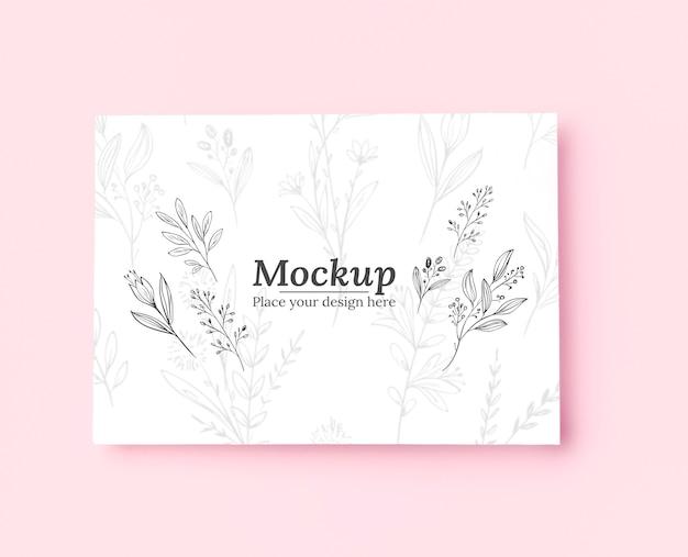 Draufsicht auf modell mit pflanzen