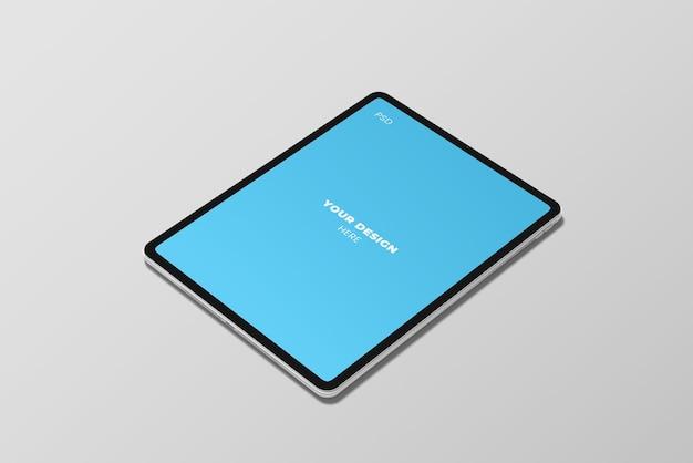 Draufsicht auf tablet-modell