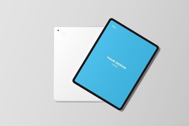 Draufsicht auf tablet-modell Premium PSD