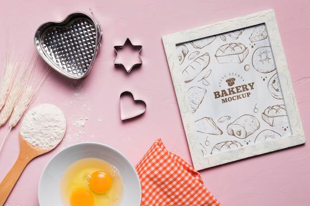 Draufsicht bäckereirahmen mit modell