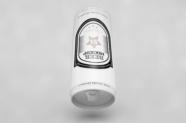 Draufsicht bier kann mock up
