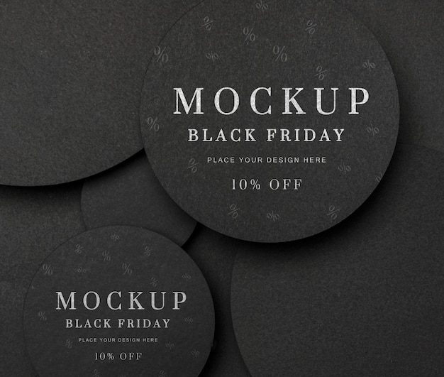 Draufsicht black friday sales mock-up