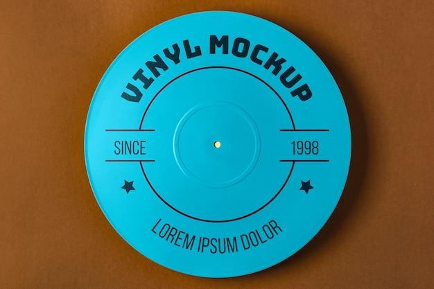 Draufsicht blaues vinylmodell