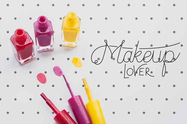Draufsicht des make-upkonzeptmodells