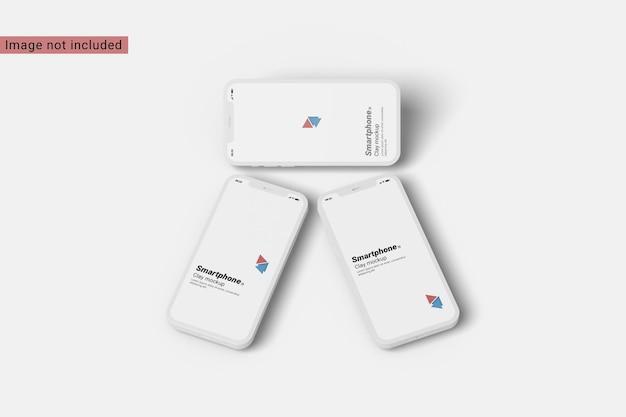 Draufsicht des ton-smartphone-modells