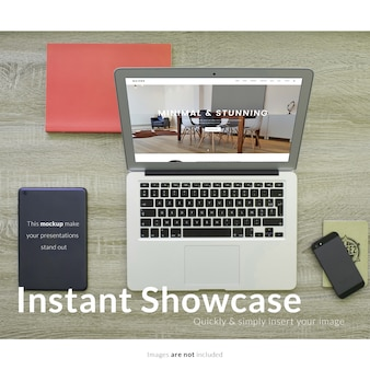 Draufsicht laptop mock-up