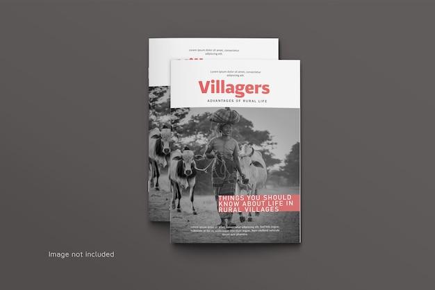 Draufsicht magazin oder katalog cover modell