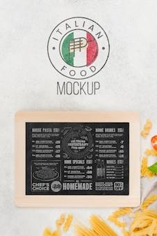 Draufsicht pasta- und tafelsortiment
