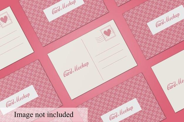 Draufsicht postkartenmodell