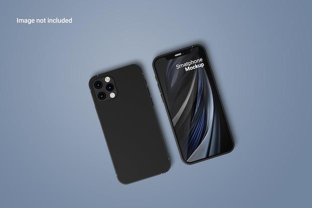 Draufsicht smartphone-modell