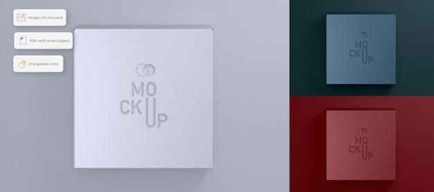 Draufsicht verpackungsbox modell