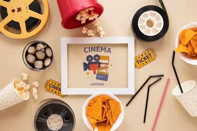 Draufsicht vintage kino modell