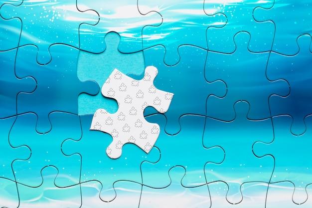 Draufsichtanordnung mit unvollständigem puzzlespiel