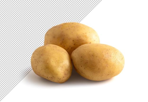 Drei kartoffeln vom hintergrund isoliert editierbar