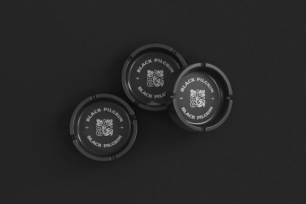 Drei marken-aschenbecher-modell