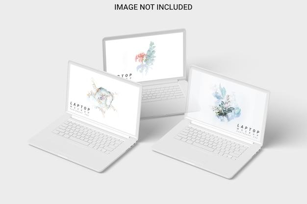 Drei ton laptop modell vorderansicht isoliert