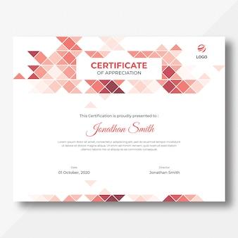 Dreiecke zertifikatvorlage