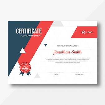Dreiecks-zertifikat Premium PSD