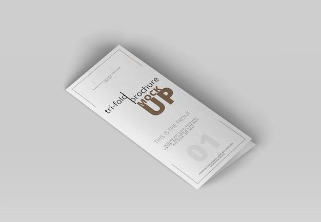 Dreifach gefaltete broschüre mock-up