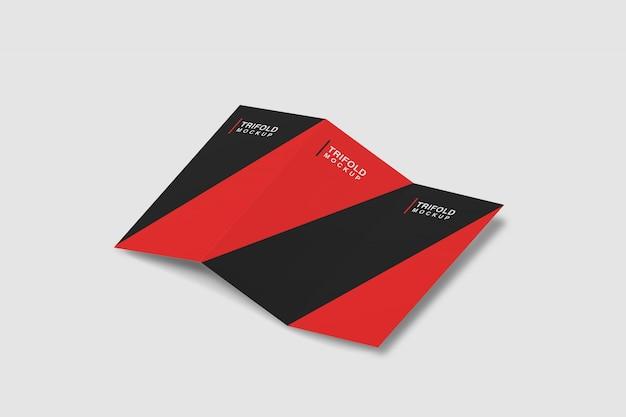 Dreifach gefaltete broschüre mockup
