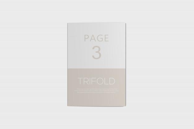Dreifach gefaltete broschüre psd-modell