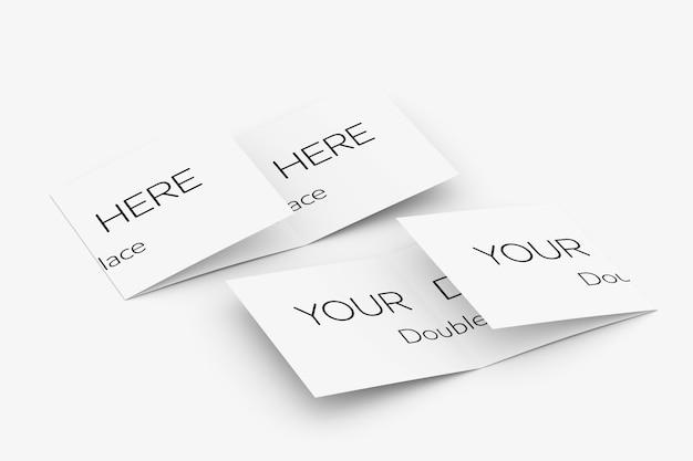 Dreifach gefaltete broschürenmodellansicht 3d-rendering