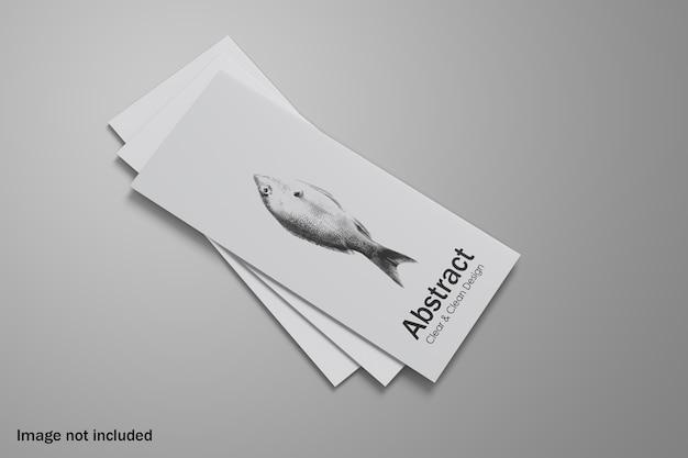 Dreifach gefaltetes broschürenmodell als stapel