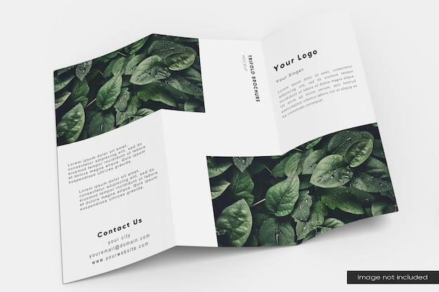 Dreifach gefaltetes broschürenmodell öffnen