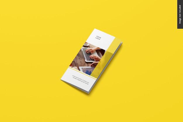 Dreifach gefaltetes broschürenmodell