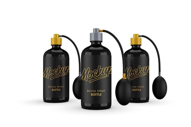 Dreifaches modell der pumpflasche