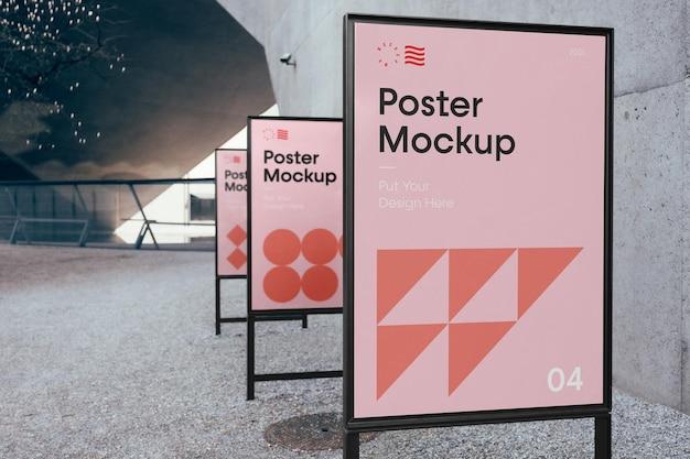 Dreifaches poster-modell