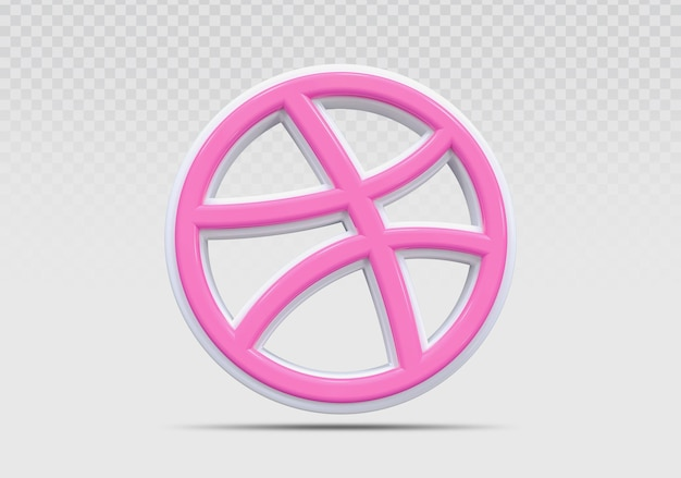 Dribbble 3d-symbol rendern konzept kreativ