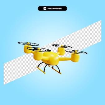 Drohne 3d-render-darstellung isoliert
