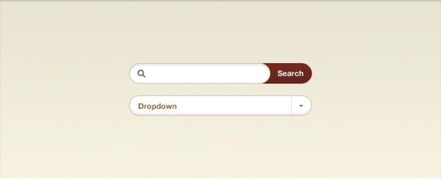 Dropdown-eingang roten knopf