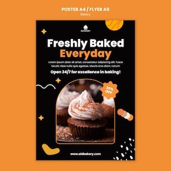 Druckvorlage für bäckereien