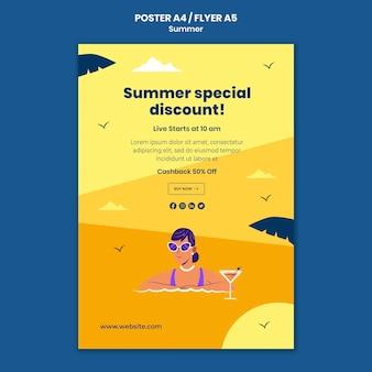 Druckvorlage für den sommerverkauf