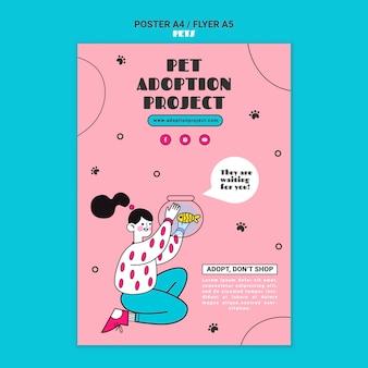 Druckvorlage für die adoption von haustieren