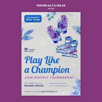 Druckvorlage für die eishockeysaison