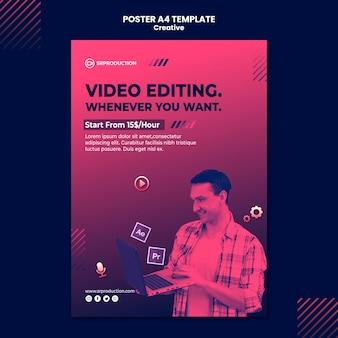 Druckvorlage für die videobearbeitung