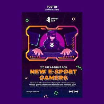 Druckvorlage für e-sport-spiele